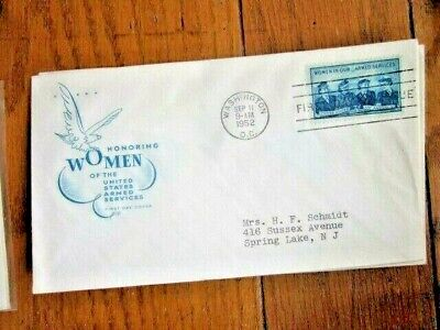 WOMEN IN THE ARMED SERVICES WACS WAVES ARMY NAVY MARINES 1952 FARNAM CACHET FDC - Women In The Army
