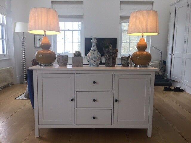 Credenza Industrial Ikea : White ikea hemnes sideboard in bayswater london gumtree