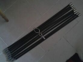 2 Sets (1 new) drain chimney, flue cleaning rods