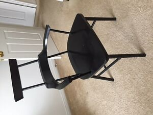 Nice Black Wooden Chair with Arms