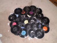 """30 vinyl 45"""" records by various artists"""