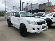 2013 Toyota Hilux KUN26R MY12 SR White 5 Speed Manual Cab Chassis Granville Parramatta Area Preview