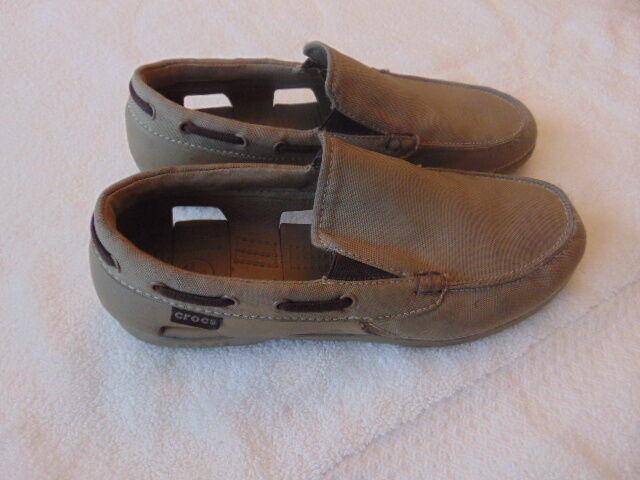 Men's Crocs Taupe Canvas Casual Shoes-8