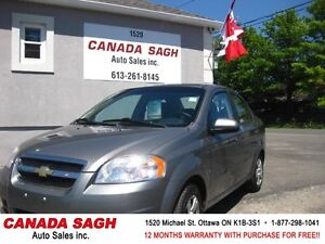 2009 Chevrolet Aveo 111km AWESOME CAR 12M.WRTY+SAFETY $3990
