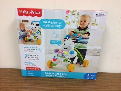 Fisher Price Learn With Me Zebra Walker Lights and Music 6mo +