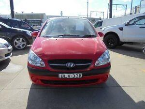2009 Hyundai Getz TB MY09 SX Red 5 Speed Manual Hatchback Granville Parramatta Area Preview