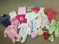 0-6 months baby girl clothing (Used)
