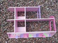 Bedroom Shelf Pink/ Hanging Unit Girls