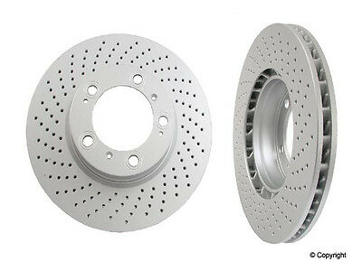 2-Pieces MEYLE Cross Drilled Front Disc Brake Rotors Porsche Boxster-Cayman-911 2 Piece Drilled Discs
