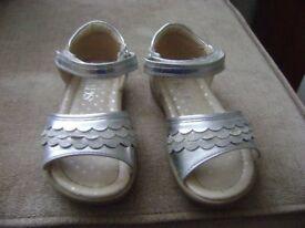 M&S Sliver size 8 girls sandals