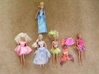 4 Barbie dolls, including 2003 Odette doll plus 1 Disney doll