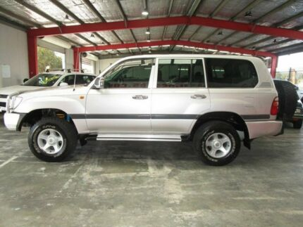 2002 Toyota Landcruiser FZJ105R GXL Silver 4 Speed Automatic Wagon