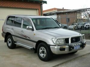 2002 Toyota Landcruiser HDJ100R GXL Silver 4 Speed Automatic Wagon Mount Lawley Stirling Area Preview