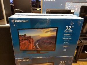 TELEVISION ELEMENT FLAMBANT NEUVE 1080P HD A SEULEMENT 199.95$$