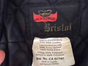 Bristol Woman's Leather Motorcycle Jacket
