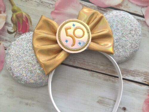50th Anniversary Celebration Minnie Mouse ears Headband-Disneyland-Disney World