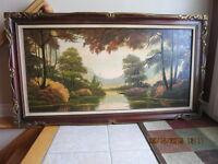 Tableau peinture toile paysage
