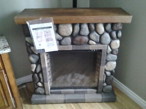 New River Rock Fireplace