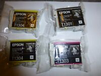 Epson ink cartridges T1301, T1303 and T1304 x2)