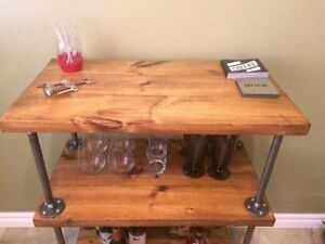Industrial bar cart, shelves, mantles and coffee tables! Kitchener / Waterloo Kitchener Area image 1