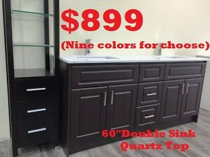 "Bathroom Vanities ***60""DOUBLE SINK $899*** 72""DOUBLE SINK $1299"