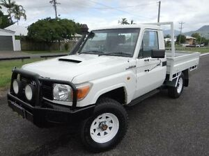2007 Toyota Landcruiser VDJ79R Workmate (4x4) White 5 Speed Manual Cab Chassis Bungalow Cairns City Preview