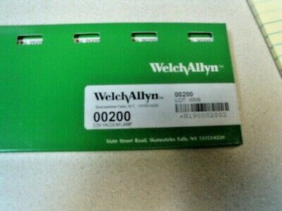 Welch Allyn 00200 2.5v Vacuum Lamp Replacement Bulbs Box Of 6 New Sealed