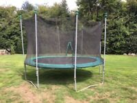 12ft TP Trampoline for sale with replaced safety net
