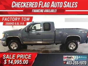 2009 GMC SIERRA 2500HD SLE EXTENDED CAB 4X4-FACTORY TOW-6.0L V8
