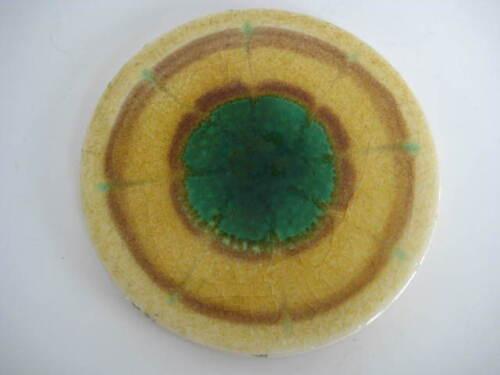 VTG. MYNDE CERAMICS TILE  MADE IN SCOTLAND / COASTER studio pottery