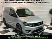 2018. 18. Volkswagen Caddy 2.0 TDi Highline~SAT NAV~BESPOKE PREMIUM LEATHER~