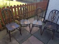 Wooden Chairs (x4)