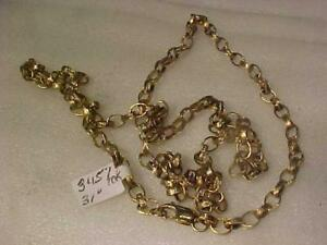 "#3457-31"" 10K YELLOW GOLD BYZANTINE LINK CHAIN VERY OLD-LOBSTER CLAW CLOSURE -WEIGHS 28.98 GRAMS FREE S/H IN CANADA ONLY"