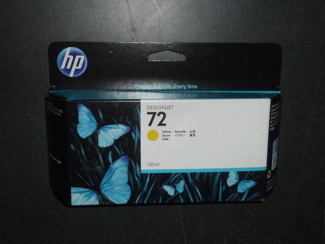 HP Designjet 72 Yellow 130ml Ink Cartridge C9373a 8/2017