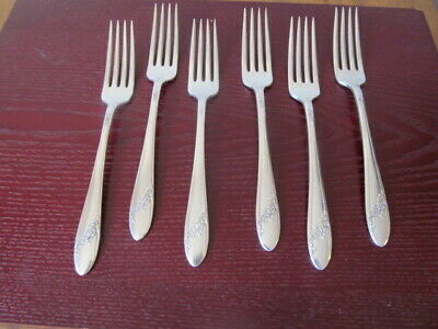 """Community PATRICIAN Silverplate Set of Two 7 7//8/"""" Hollow Handle Dinner Forks"""