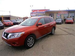 2013 NISSAN PATHFINDER SV 4WD 7 PSSGR CAMERA EASY CAR FINANCING