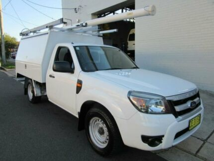 2010 Ford Ranger PK XL White 5 Speed Manual Cab Chassis Croydon Burwood Area Preview