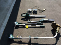 Yard Works Hedge Trimmer, Pole Saw, Grass Trimmer & 2 Chargers