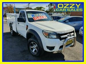 2009 Ford Ranger PK XL Hi-Rider (4x2) White 5 Speed Manual Cab Chassis Minto Campbelltown Area Preview