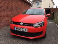 VW POLO 60 Reg, Superb Condition, low miles, 3Dr, 1.2, Red, FSH.