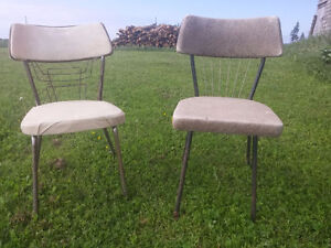 Mid century modern Vintage 1950's chairs made in Canada