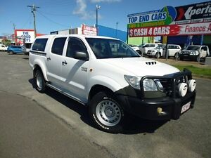 2012 Toyota Hilux KUN26R MY12 SR Double Cab White 4 Speed Automatic Utility Westcourt Cairns City Preview