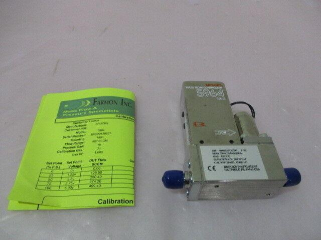 Brooks 5964, Ar, 500 SCCM, MFC, Mass Flow Controller (Calibrated). 325119
