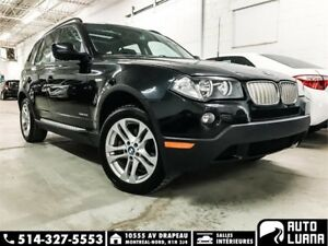 2010 BMW X3 30i AWD/PANORAMIQUE/CUIRE/BLTTH/MARCHE PIED/PROPRE