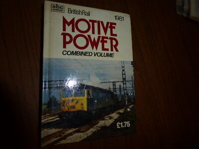 Ian Allan ABC British  Motive Power Combined Volume 1981 for sale  Shipping to Ireland