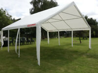 A 6m x 6m heavy duty marquee (roof & walls) in white manufactured by Gala Tents Ltd