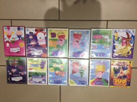 peppa pig / ben and holly DVDs