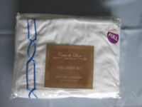 4 Piece Double bed sheet set - Brilliant White