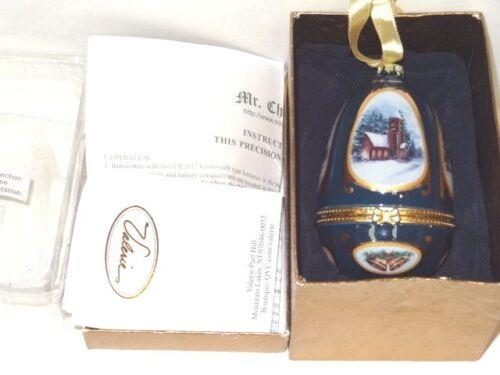 Mr Christmas Vintage Musical Christmas Egg w/Box & COA Valerie Parr #3