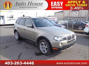 2008 BMW X3 3.0i LEATHER PANORAMIC ROOF AWD 90DAYNOPAYMENTS